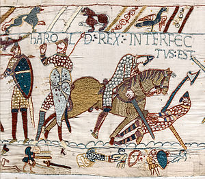 300px-Bayeux_Tapestry_scene57_Harold_death