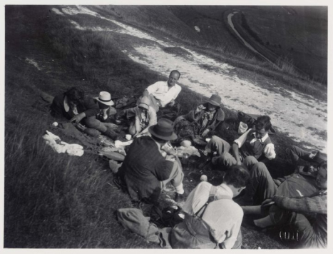 A Bloomsbury picnic at High and Over, Sussex.