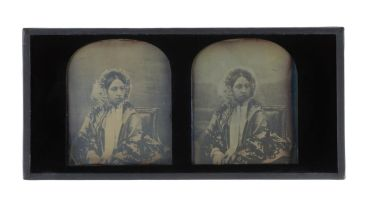Stereoscopic photograph of Queen Victoria, 1854. Museum of London.