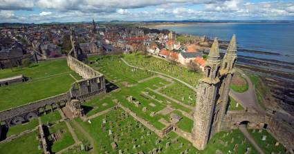 The St Andrews Cathedral complex from St Rule's Tower