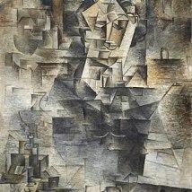 Pablo Picasso, Portrait of Daniel-Henry Kahnweiler, 1910. Art Institute of Chicago.